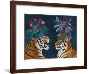 Hot House Tigers, Pair, Dark by Fab Funky