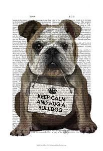 Hug a Bulldog by Fab Funky