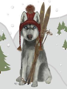 Husky Skiing by Fab Funky