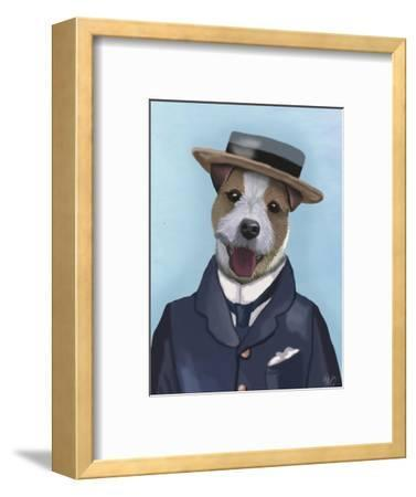 Jack Russell in Boater