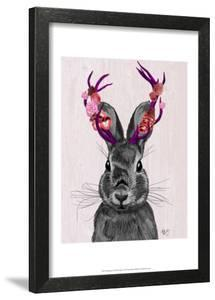 Jackalope with Pink Antlers by Fab Funky