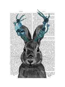 Jackalope with Turquoise Antlers by Fab Funky