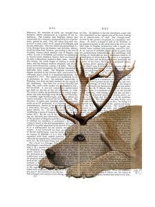 Labrador with Antlers by Fab Funky