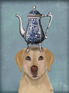 Labrador with Teapot by Fab Funky