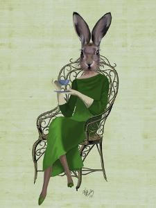 Lady Bella Rabbit Taking Tea by Fab Funky