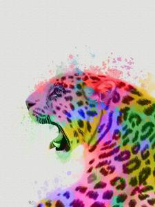 Leopard Rainbow Splash 2 by Fab Funky
