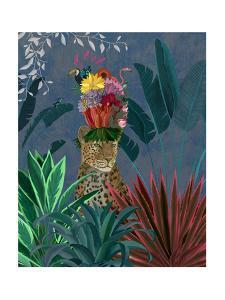 Leopard with Headdress by Fab Funky