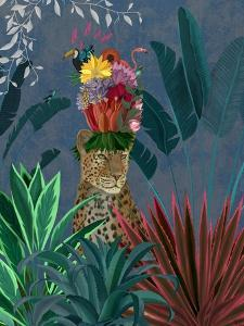 Leopard with Headdress by Fab Funky