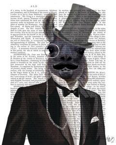Llama in Tuxedo by Fab Funky