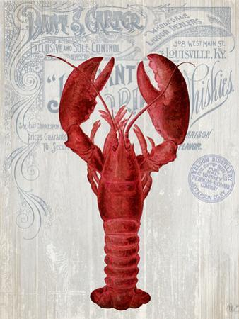 Lobster Prohibition Lobster On White by Fab Funky