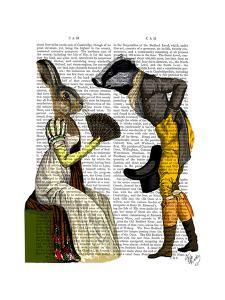 Look Of Love Regency Badger & Hare Couple by Fab Funky