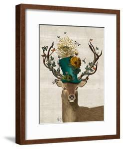 Mad Hatter Deer by Fab Funky