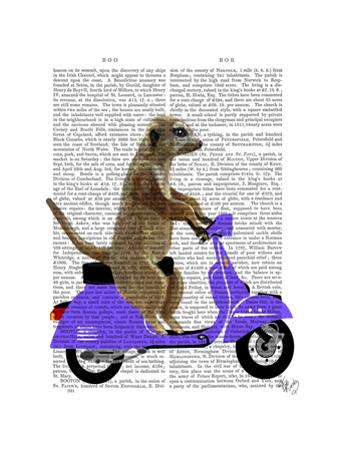 Meerkat on Lilac Moped by Fab Funky
