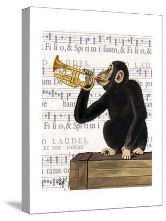 Monkey Playing Trumpet