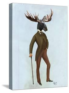 Moose In Suit Full by Fab Funky