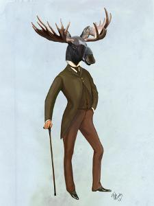 Moose In Suit Full by Fab Funky