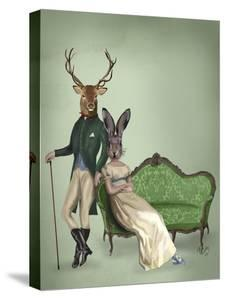 Mr Deer and Mrs Rabbit by Fab Funky