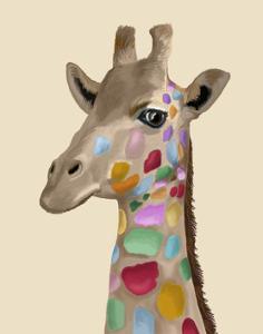 MultiColoured Giraffe by Fab Funky