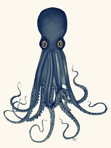 Octopus 8, Blue by Fab Funky