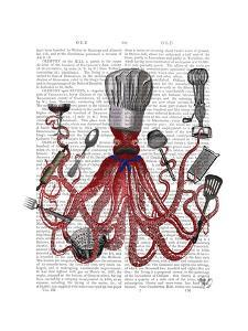 Octopus Fabulous French Chef by Fab Funky