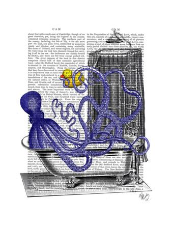 Octopus in Bath by Fab Funky