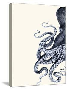 Octopus Indigo Blue and Cream a by Fab Funky