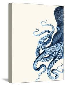 Octopus Navy Blue and Cream a by Fab Funky