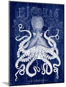 Octopus Prohibition Octopus On Blue by Fab Funky