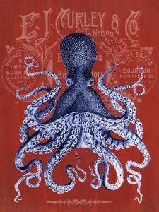 Octopus Prohibition Octopus On Red by Fab Funky