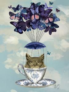 Owl In Teacup by Fab Funky