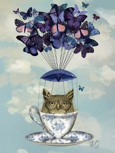 Owl In Teacup by Fab Funky