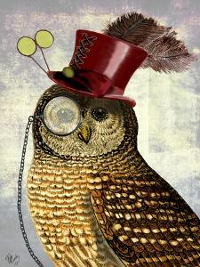 Owl With Top Hat by Fab Funky