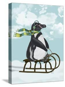 Penguin On Sled by Fab Funky