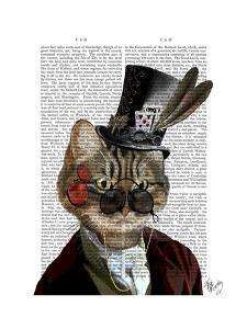 Phileas Feline Steampunk Cat & Top Hat by Fab Funky
