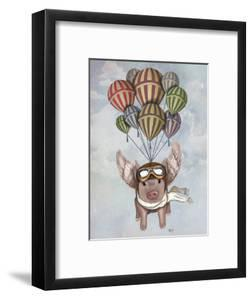 Pig And Balloons by Fab Funky