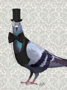 Pigeon in Waistcoat and Top Hat by Fab Funky
