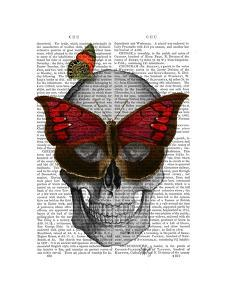 Pink Butterfly Mask Skull by Fab Funky