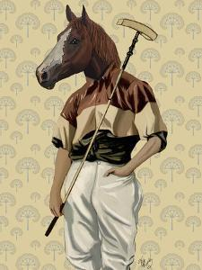 Polo Horse Portrait by Fab Funky