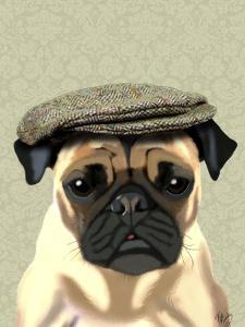 Pug in Flat Cap by Fab Funky