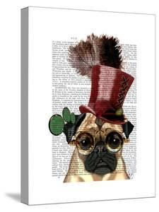 Pug with Steampunk Style Top Hat · Fab Funky 187e6790b49b