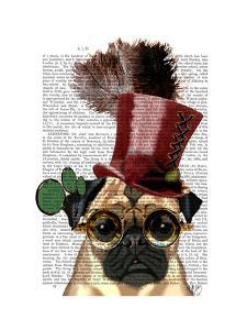 Pug with Steampunk Style Top Hat by Fab Funky
