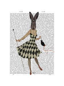 Rabbit in Black White Dress by Fab Funky
