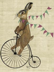 Rabbit On Penny Farthing by Fab Funky