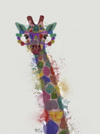 Rainbow Splash Giraffe 1 by Fab Funky