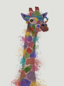 Rainbow Splash Giraffe 2 by Fab Funky