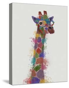 Rainbow Splash Giraffe 2 by Fab Funky