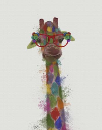 Rainbow Splash Giraffe 3 by Fab Funky