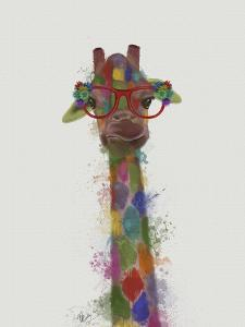 Rainbow Splash Giraffe 3 by Fab Funky