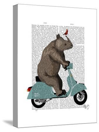 Rhino on Moped