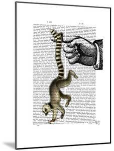 Ring Tailed Lemur on Finger by Fab Funky